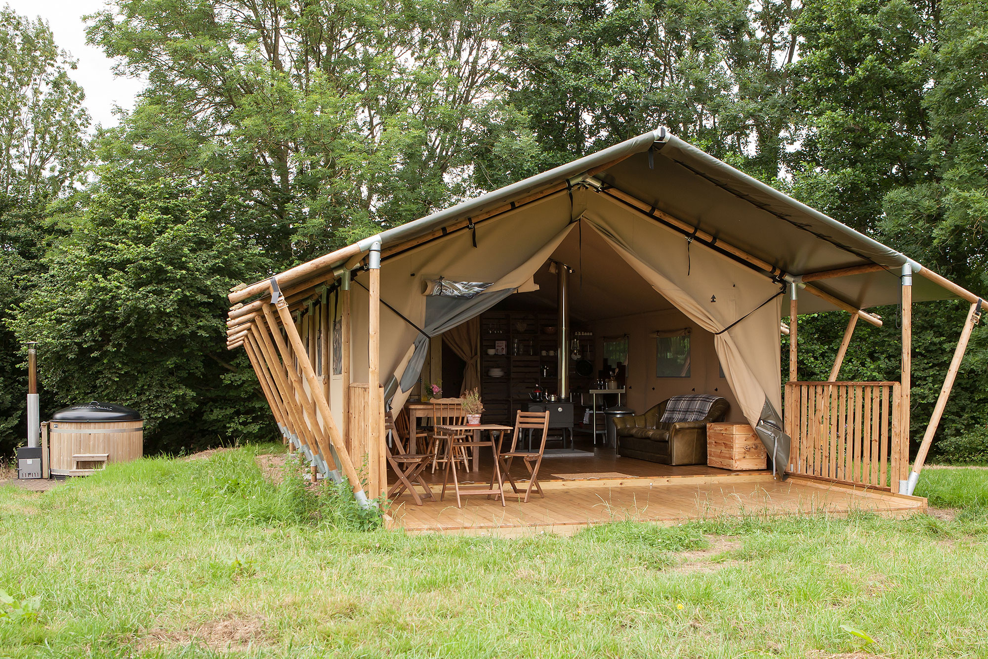 safari tents in Devon
