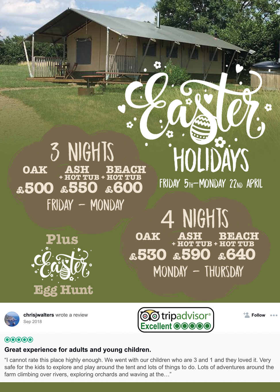 Easter Glamping Holidays Devon